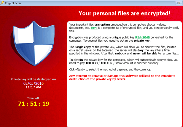 Defeat CryptoLocker Ransomware: Make sure your Data is not