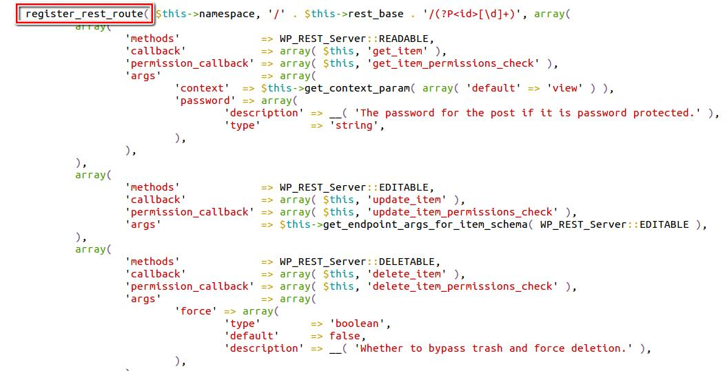 WordPress 'REST API Endpoint' Zero-Day Content Injection Vulnerability |