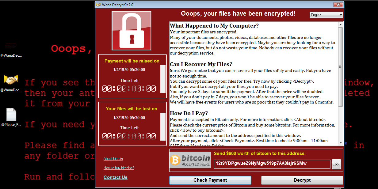 WannaCry Ransomware : Digital example of a perfect storm