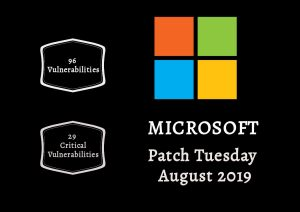 Patch Tuesday: Microsoft Security Bulletin Summary for August 2019