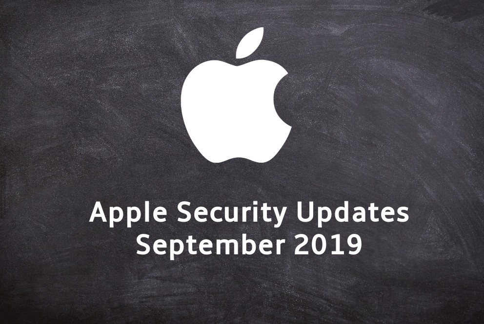 Apple Security Updates September 2019