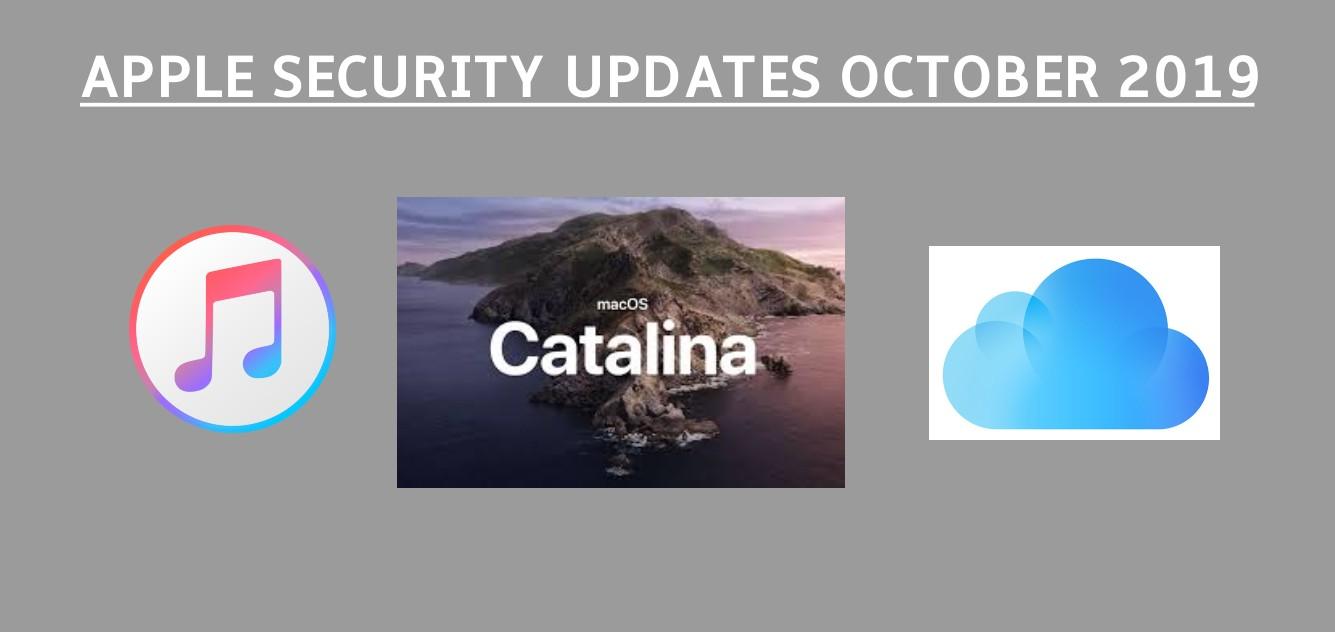 Apple security updates October 2019