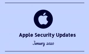 Apple Security Updates January 2020