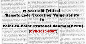 Point to Point Protocol Daemon demonized by CVE-2020-8597
