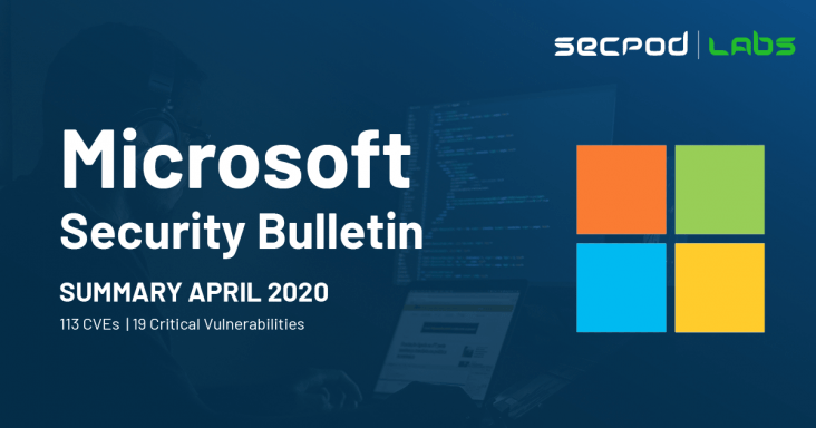 SecPod Labs - Microsoft Security Updates Bulletin April 2020 Summary