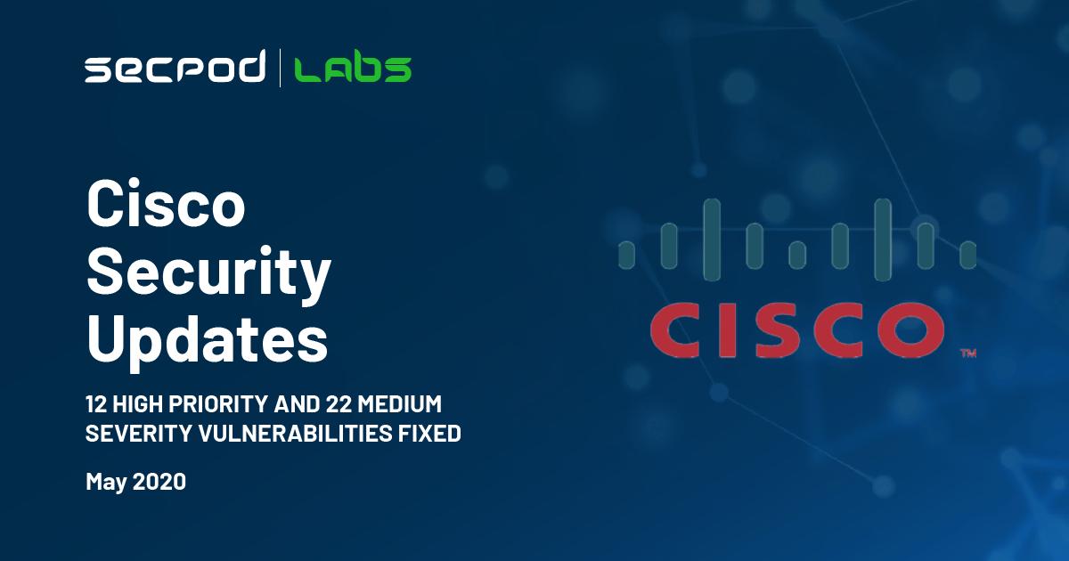 Cisco Security Updates May 2020