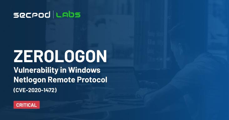Zerologon Vulnerability in Windows Netlogon Remote Protocol