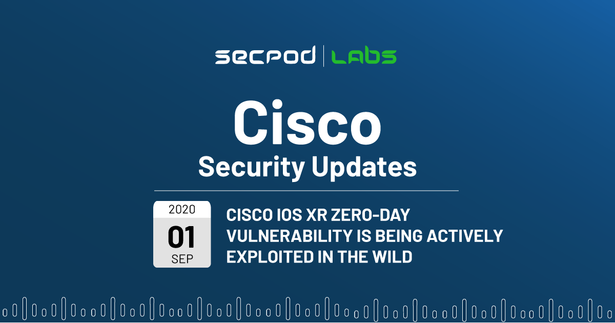 Cisco IOS XR Actively Exploited Zero Day Vulnerability Allows Memory Exhaustion