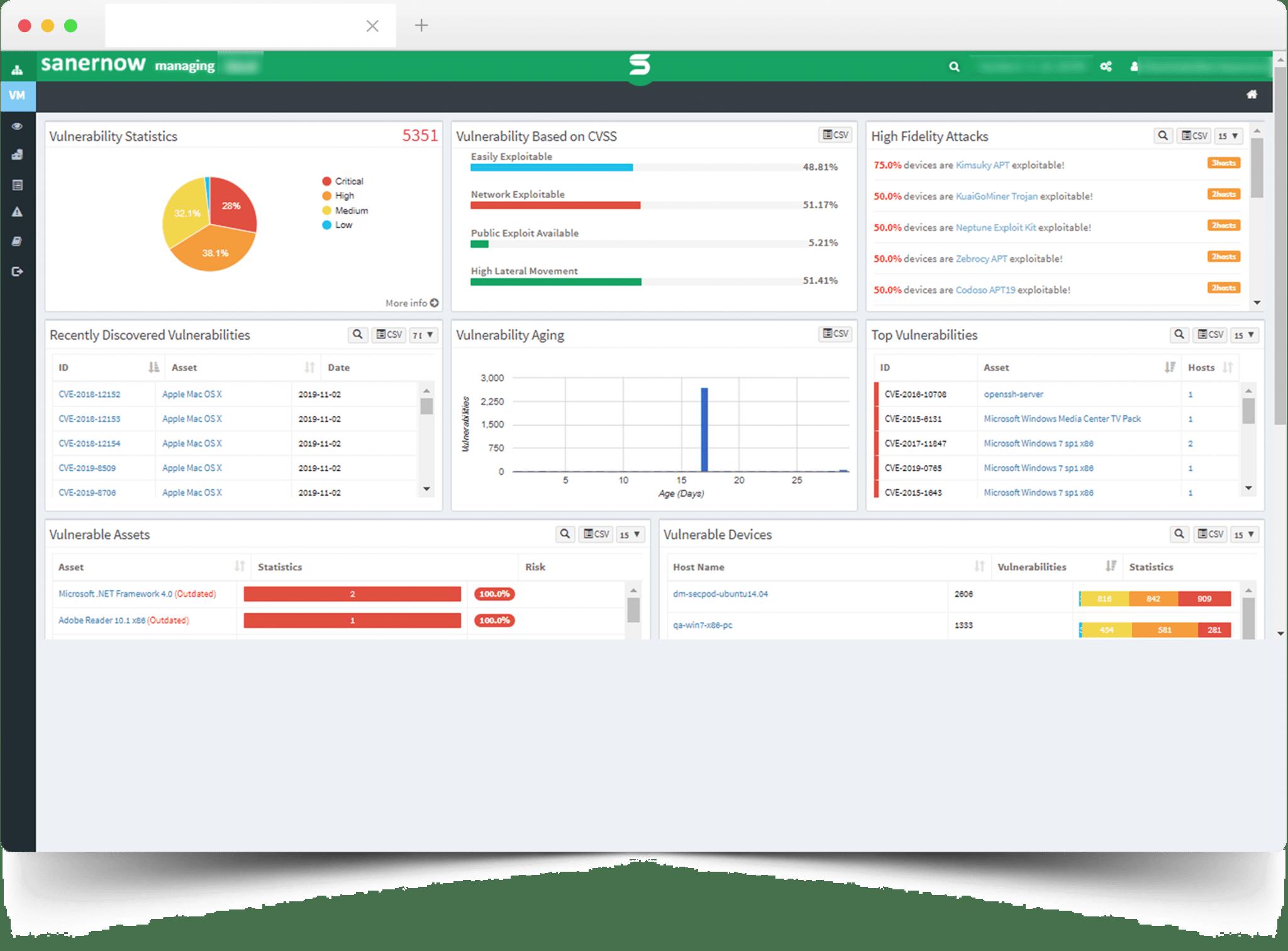 SanerNow Vulnerability Management Software