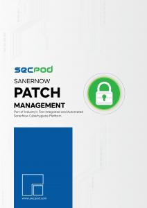 SecPod SanerNow - Patch Management Datasheet