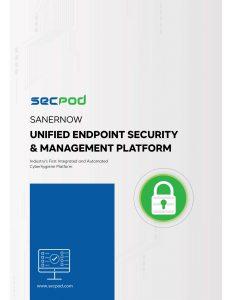 SecPod SanerNow Platform Datasheet
