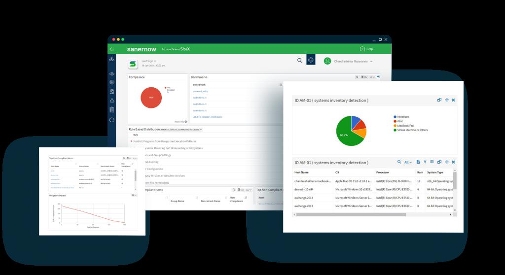 Compliance Management Mockup Dashboard