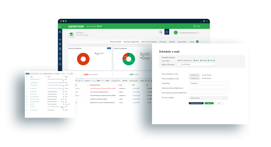 Automated Patch Management Dashboard